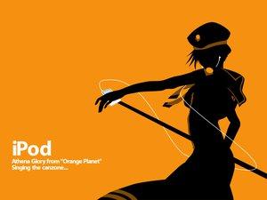 Rating: Safe Score: 42 Tags: aria athena_glory ipod orange parody silhouette User: Oyashiro-sama