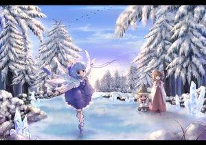 Rating: Safe Score: 51 Tags: animal bird cirno forest hakurei_reimu hat japanese_clothes kirisame_marisa miko miyai_haruki sky snow touhou tree witch User: SciFi