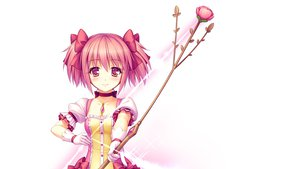 Rating: Safe Score: 130 Tags: bow bow_(weapon) choker dress kaname_madoka mahou_shoujo_madoka_magica pink_eyes pink_hair sayori weapon white User: Dust