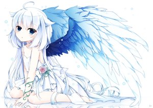 Rating: Safe Score: 201 Tags: flowers loli long_hair original shiroyurine wedding_attire white wings yuu_(shiroyurine) User: Wiresetc