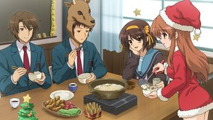 Rating: Safe Score: 39 Tags: asahina_mikuru christmas cosplay food game_cg group koizumi_itsuki kyon male reindeer school_uniform suzumiya_haruhi suzumiya_haruhi_no_tsuisou suzumiya_haruhi_no_yuutsu User: SciFi