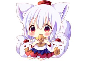 Rating: Safe Score: 23 Tags: animal animal_ears blush cat_smile chibi hat hina_hina inubashiri_momiji japanese_clothes red_eyes short_hair skirt tail touhou waifu2x white white_hair wolfgirl User: otaku_emmy