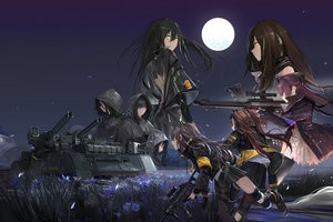 Rating: Safe Score: 54 Tags: anthropomorphism combat_vehicle girls_frontline gun long_hair m4a1_(girls_frontline) paindude tagme_(character) thighhighs twintails ump-45_(girls_frontline) ump-9_(girls_frontline) weapon User: Dreista