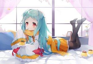 Rating: Safe Score: 70 Tags: aqua_hair bed blush flowers food izumo_miyako loli long_hair pantyhose princess_connect! red_eyes scarf skirt tagme_(artist) User: BattlequeenYume
