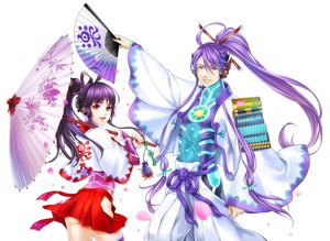 Rating: Safe Score: 38 Tags: fan kamui_gakuko kamui_gakupo male ohse petals purple_hair umbrella vocaloid User: FormX