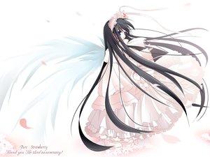 Rating: Safe Score: 19 Tags: black_hair blue_eyes loli lolita_fashion natsume_eri wings User: Oyashiro-sama