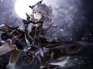 Rating: Safe Score: 46 Tags: dark gloves moon original sword tagme_(artist) weapon User: RyuZU
