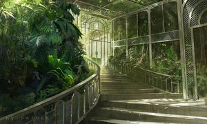 Rating: Safe Score: 60 Tags: daible green leaves nobody original scenic stairs watermark User: BattlequeenYume
