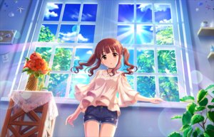 Rating: Safe Score: 36 Tags: annin_doufu brown_eyes brown_hair clouds flowers idolmaster idolmaster_cinderella_girls idolmaster_cinderella_girls_starlight_stage long_hair necklace ogata_chieri shorts sky tree twintails User: luckyluna