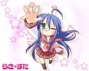 Rating: Safe Score: 6 Tags: cherry_blossoms flowers izumi_konata lucky_star school_uniform User: Oyashiro-sama
