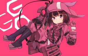 Rating: Safe Score: 58 Tags: brown_hair gloves gun hat ivan_624 kohiruimaki_karen loli military pink_eyes short_hair sword_art_online sword_art_online_alternative:_gun_gale_online weapon User: RyuZU