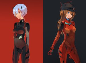 Rating: Safe Score: 131 Tags: ayanami_rei bodysuit eyepatch jpeg_artifacts neon_genesis_evangelion saberiii soryu_asuka_langley User: aoyoru