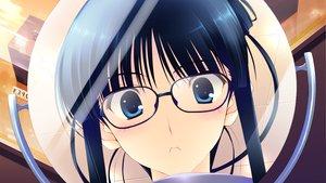 Rating: Safe Score: 20 Tags: black_hair blue_eyes close game_cg glasses mirror reflection touma_kazusa white_album_2 User: Maboroshi