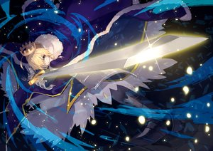 Rating: Safe Score: 53 Tags: armor artoria_pendragon_(all) blonde_hair cape crown fate/grand_order fate_(series) green_eyes saber short_hair sword uedrk_yamato weapon User: otaku_emmy