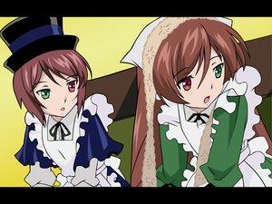 Rating: Safe Score: 3 Tags: 2girls bicolored_eyes rozen_maiden souseiseki suiseiseki twins User: Oyashiro-sama