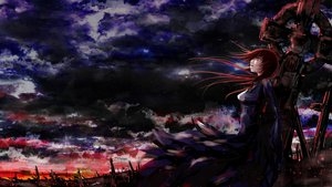Rating: Safe Score: 99 Tags: clouds daisy_(invisibleworld) dark megurine_luka red_eyes red_hair vocaloid User: FormX