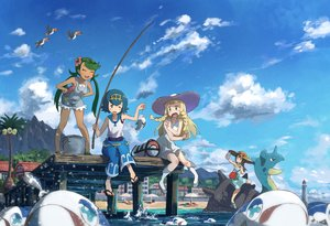 Rating: Safe Score: 36 Tags: aliasing animal beach bird black_hair blonde_hair braids brown_eyes building city dress green_eyes green_hair hat kamemaru lapras lillie_(pokemon_sm) long_hair mao_(pokemon_sm) moon_(pokemon_sm) pokemon short_hair shorts suiren_(pokemon_sm) twintails umbrella water wink User: luckyluna