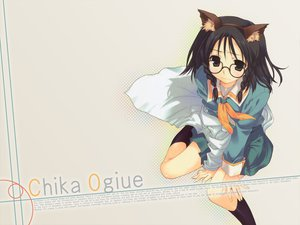 Rating: Safe Score: 37 Tags: animal_ears black_hair catgirl cosplay genshiken glasses mitsumi_misato ogiue_chika User: Oyashiro-sama