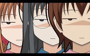 Rating: Safe Score: 10 Tags: close glasses hidaka_megumi hirakawa_natsumi koizumi_chika kyou_no_go_no_ni vector User: Oyashiro-sama