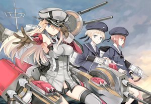 Rating: Safe Score: 138 Tags: anthropomorphism bismarck_(kancolle) hao_(patinnko) kantai_collection z1_leberecht_maass_(kancolle) z3_max_schultz_(kancolle) User: FormX