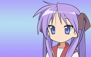 Rating: Safe Score: 18 Tags: gradient hiiragi_kagami lucky_star purple_hair school_uniform vector User: RyuZU