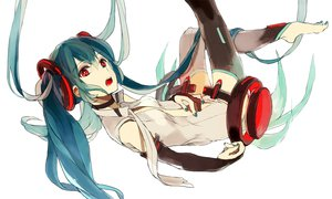 Rating: Safe Score: 81 Tags: aqua_hair barefoot hatsune_miku loo miku_append red_eyes vocaloid white User: FormX