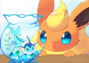 Rating: Safe Score: 18 Tags: flareon kemoribon pokemon vaporeon User: otaku_emmy