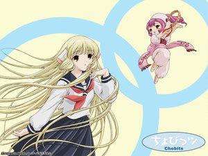 Rating: Safe Score: 10 Tags: blonde_hair chii chobits long_hair school_uniform sumomo User: Oyashiro-sama