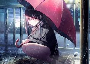 Rating: Safe Score: 54 Tags: brown_hair koh_rd long_hair original purple_eyes rain umbrella water User: mattiasc02