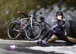Rating: Safe Score: 74 Tags: bicycle black_hair hitomi_kazuya long_hair original skintight watermark User: mattiasc02