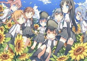 Rating: Safe Score: 70 Tags: anthropomorphism arare_(kancolle) arashio_(kancolle) asagumo_(kancolle) asashio_(kancolle) clouds flowers fred04142 group kantai_collection kasumi_(kancolle) loli michishio_(kancolle) ooshio_(kancolle) skirt sunflower thighhighs yamagumo_(kancolle) zettai_ryouiki User: mattiasc02
