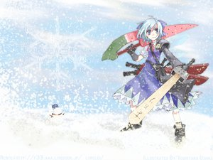 Rating: Safe Score: 24 Tags: advent_cirno cirno snow sword touhou weapon User: Tensa