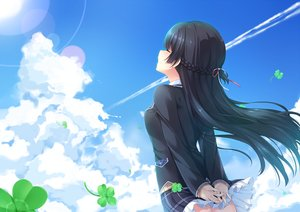 Rating: Safe Score: 35 Tags: aliasing black_hair braids chiyonekoko clouds long_hair nijisanji skirt sky tsukino_mito User: RyuZU