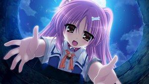 Rating: Safe Score: 36 Tags: game_cg ikura_nagisa mashiro_summer moon night pink_hair school_uniform sonobe_kaho User: Wiresetc