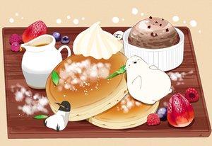 Rating: Safe Score: 22 Tags: animal bear bird cake chai_(artist) food fruit ice_cream original penguin signed strawberry User: otaku_emmy