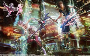 Rating: Safe Score: 37 Tags: bow final_fantasy final_fantasy_xiii final_fantasy_xiii-2 noel_kreiss serah_farron sword thighhighs weapon User: izuna