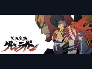 Rating: Questionable Score: 23 Tags: gainax kamina mecha robot simon tengen_toppa_gurren_lagann yoko_littner User: Oyashiro-sama