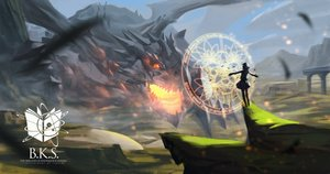 Rating: Safe Score: 132 Tags: baka_(mh6516620) dragon magic original pixiv_fantasia User: Flandre93