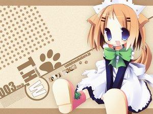 Rating: Safe Score: 12 Tags: animal_ears blue_eyes catgirl collar maid ribbons tail tozakura_nagomi User: Oyashiro-sama