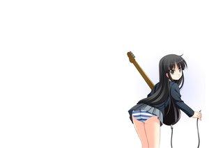 Rating: Questionable Score: 38 Tags: akiyama_mio k-on! panties striped_panties underwear white User: rargy
