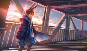 Rating: Safe Score: 36 Tags: amiya_(arknights) animal_ears arknights bunny_ears pantyhose sunset uzurako User: Arsy