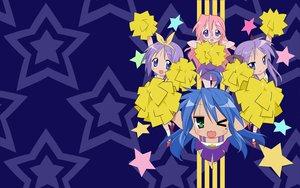 Rating: Safe Score: 18 Tags: cheerleader hiiragi_kagami hiiragi_tsukasa izumi_konata lucky_star takara_miyuki User: Oyashiro-sama