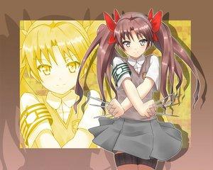 Rating: Safe Score: 34 Tags: blush bow brown_hair long_hair masamuuu school_uniform shirai_kuroko skirt to_aru_kagaku_no_railgun to_aru_majutsu_no_index twintails weapon zoom_layer User: HawthorneKitty