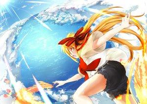 Rating: Safe Score: 34 Tags: akita_neru clouds fire magu_(mugsfc) sky vocaloid User: HawthorneKitty
