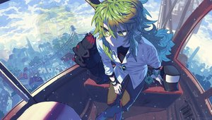 Rating: Safe Score: 18 Tags: all_male devi_(@21213456567) green_eyes green_hair hat long_hair male n pokemon zorua User: mattiasc02