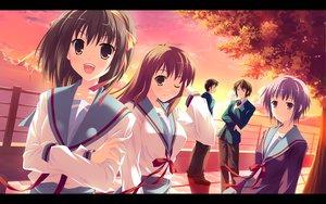 Rating: Safe Score: 45 Tags: asahina_mikuru group hinata_nao koizumi_itsuki kyon male nagato_yuki school_uniform suzumiya_haruhi suzumiya_haruhi_no_yuutsu User: HawthorneKitty