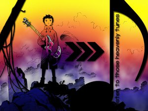 Rating: Safe Score: 8 Tags: flcl guitar instrument nandaba_naota rainbow User: Oyashiro-sama