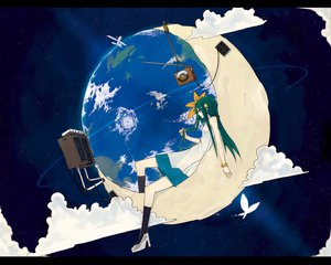 Rating: Safe Score: 90 Tags: butterfly clouds dress earth flowers hrd moon original planet space User: Aesyl