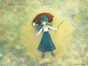 Rating: Safe Score: 22 Tags: animal grass green_hair hat long_hair lorna mabinogi sheep User: Oyashiro-sama