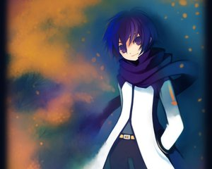 Rating: Safe Score: 16 Tags: all_male blue_eyes blue_hair kaito male puti_devil scarf vocaloid User: atlantiza